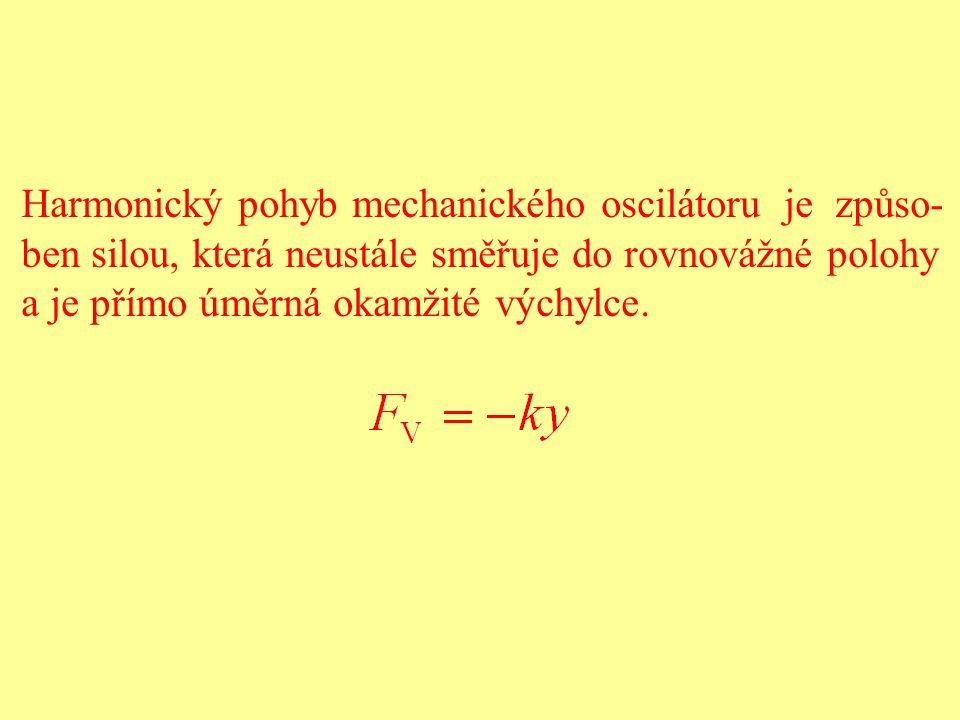 Harmonický pohyb mechanického oscilátoru je způso-