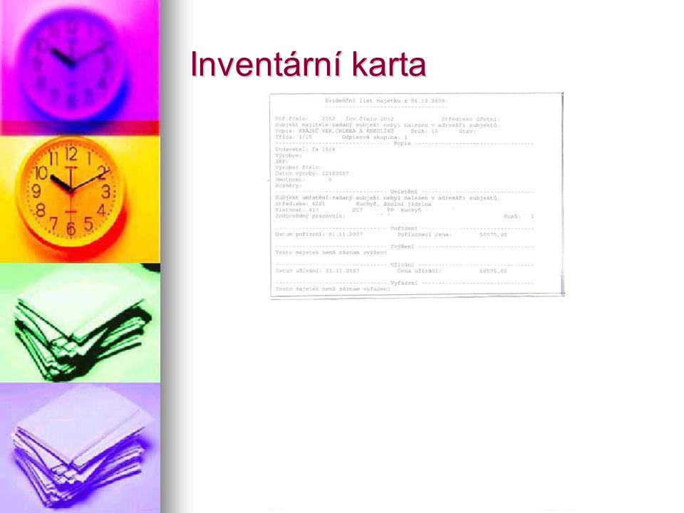 Inventární karta