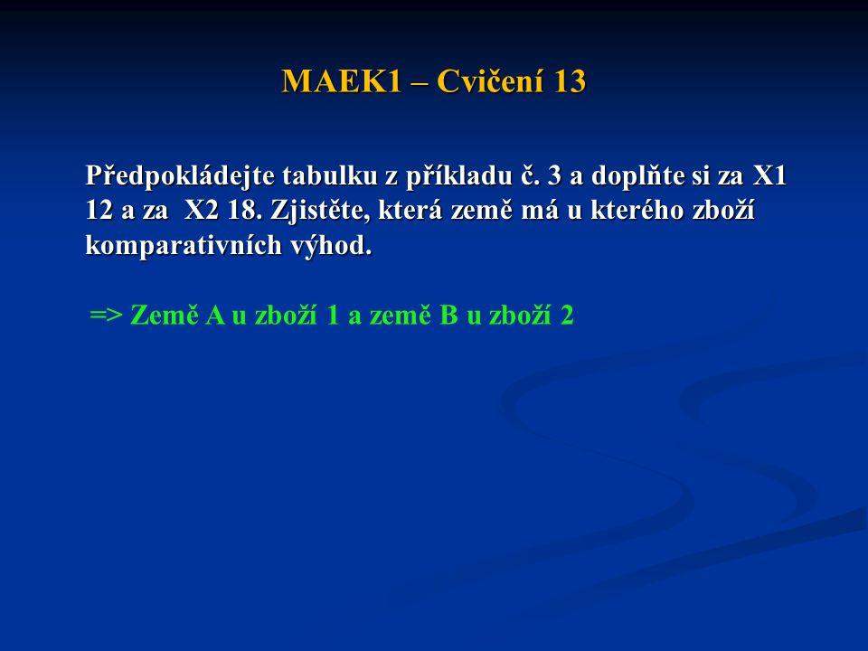 MAEK1 – Cvičení 13
