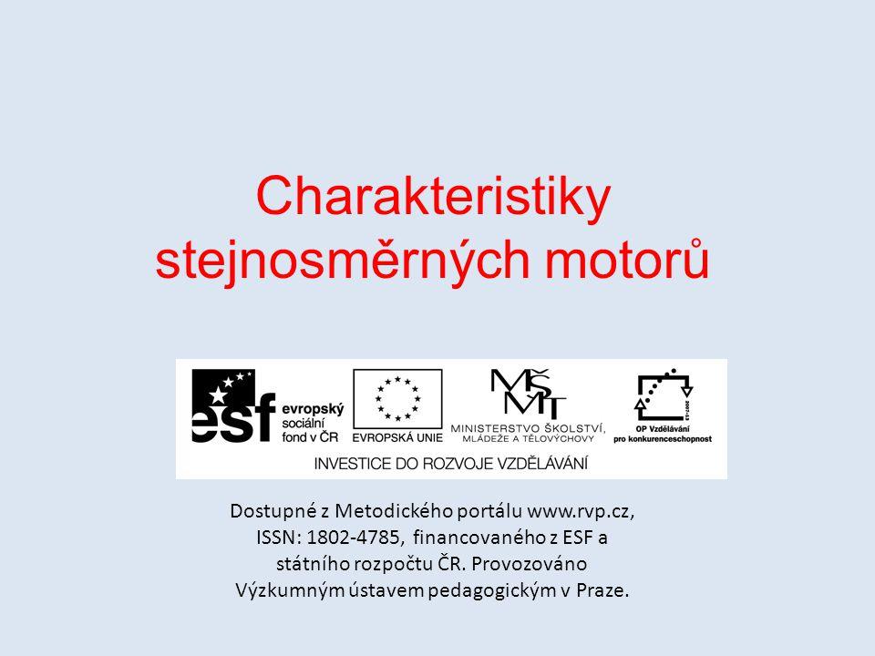 Charakteristiky stejnosměrných motorů