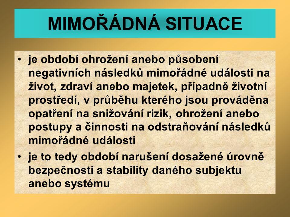 MIMOŘÁDNÁ SITUACE