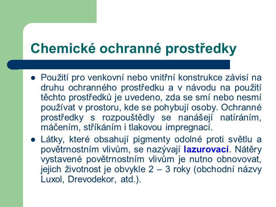 Chemické ochranné prostředky
