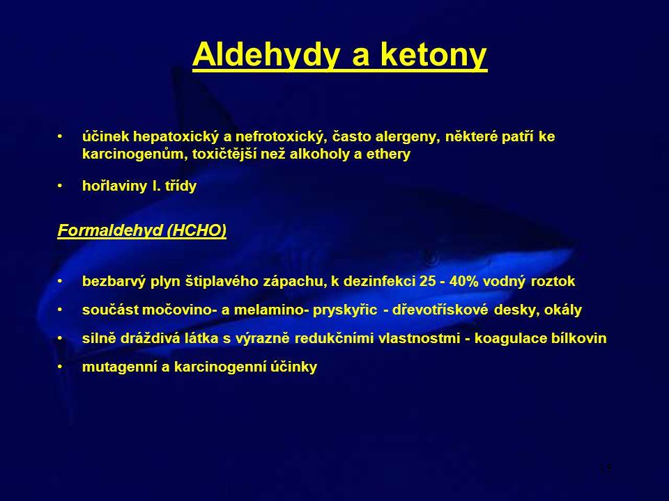 Aldehydy a ketony Formaldehyd (HCHO)