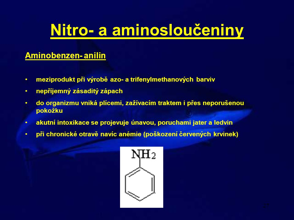 Nitro- a aminosloučeniny