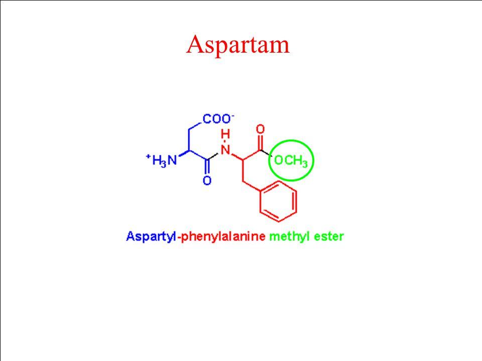 Aspartam Methanol (CH3OH) Biotransformace methanolu CH3OH H2C=O HC=O