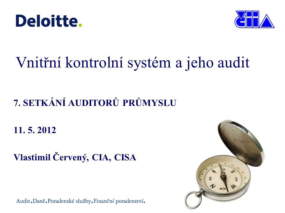 Vnitřní kontrolní systém a jeho audit