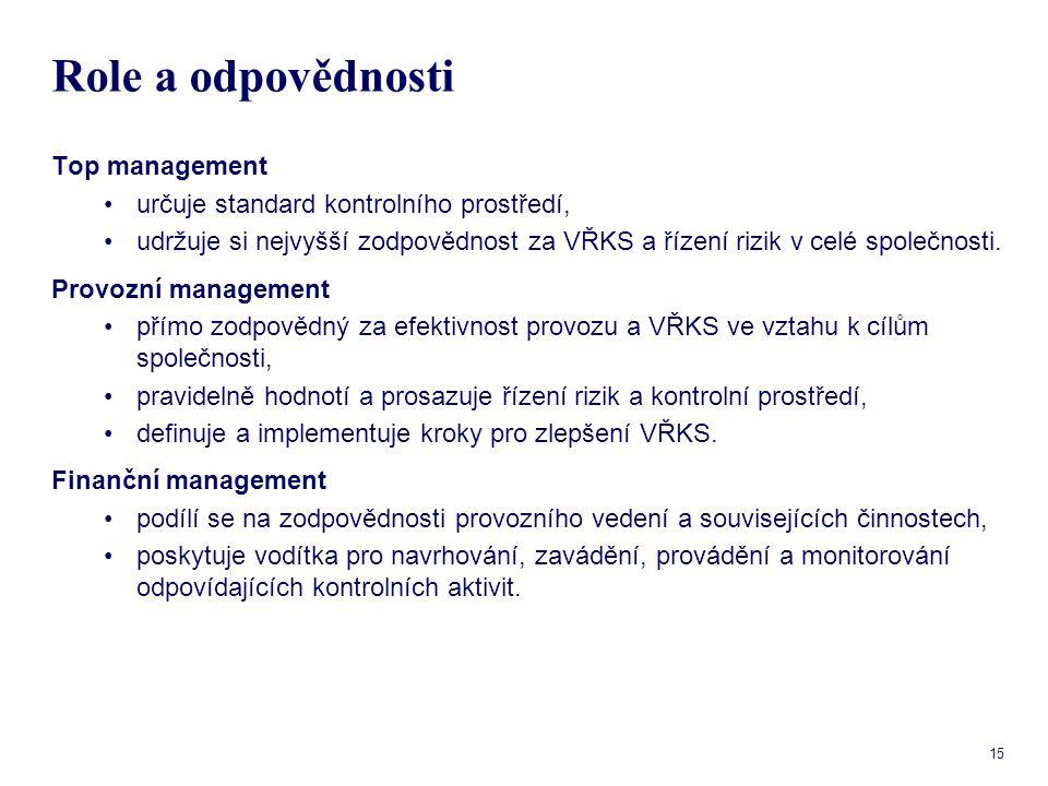 Role a odpovědnosti Top management