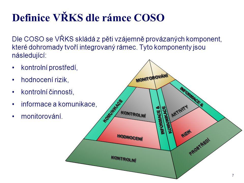Definice VŘKS dle rámce COSO
