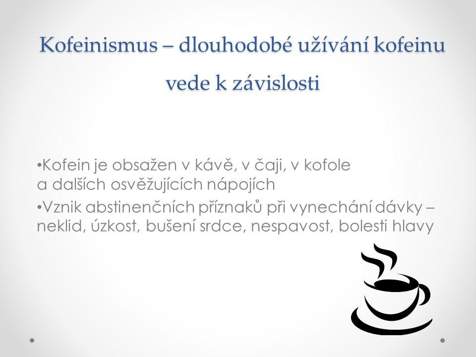 Kofeinismus – dlouhodobé užívání kofeinu vede k závislosti
