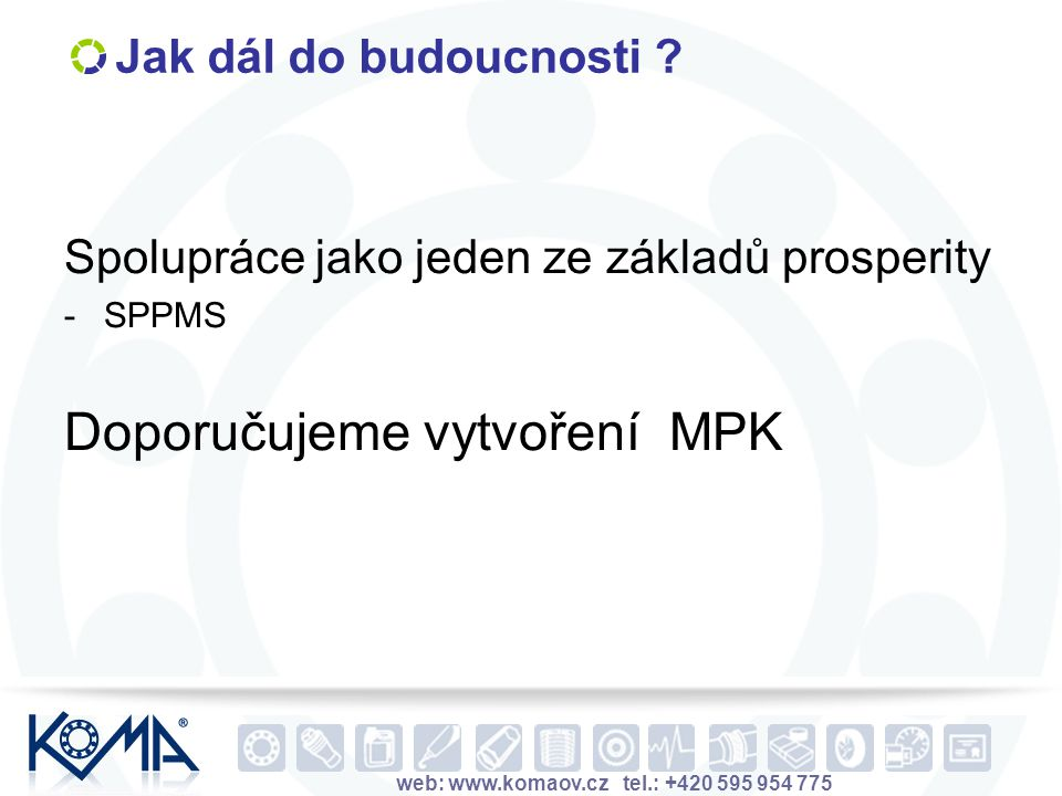 Doporučujeme vytvoření MPK