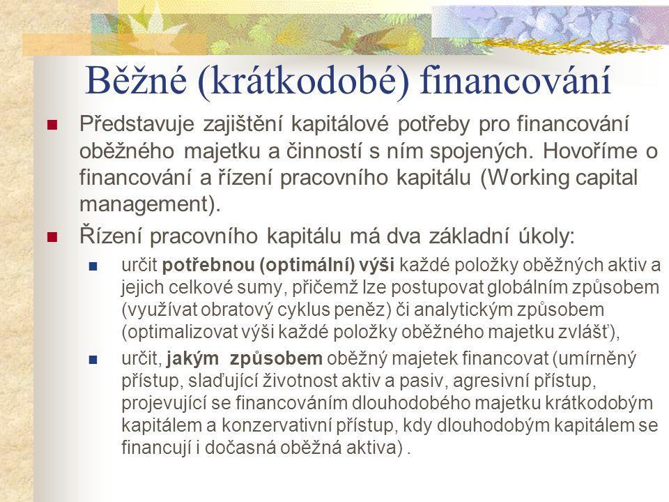 Běžné (krátkodobé) financování