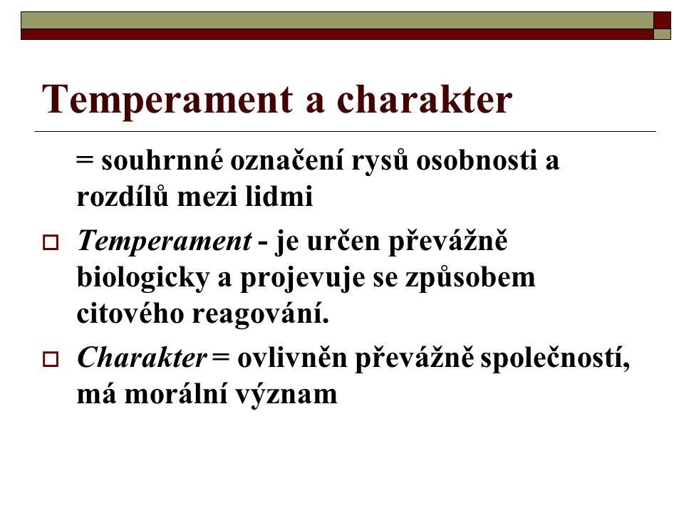 Temperament a charakter