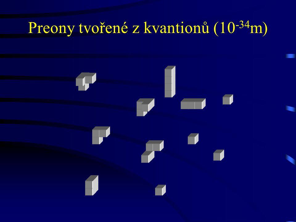 Preony tvořené z kvantionů (10-34m)