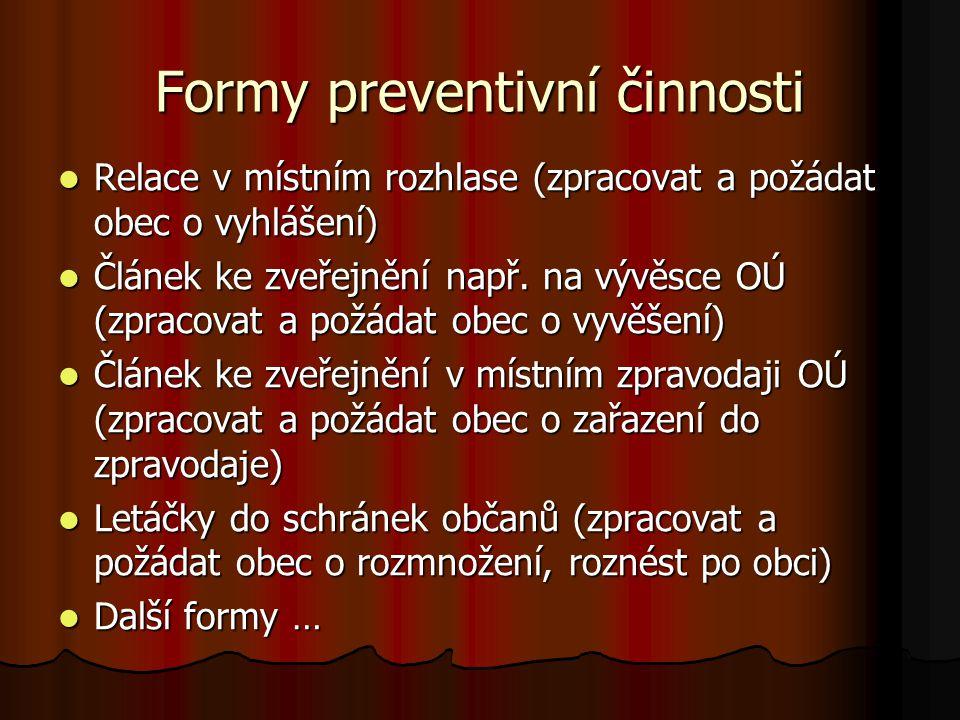 Formy preventivní činnosti