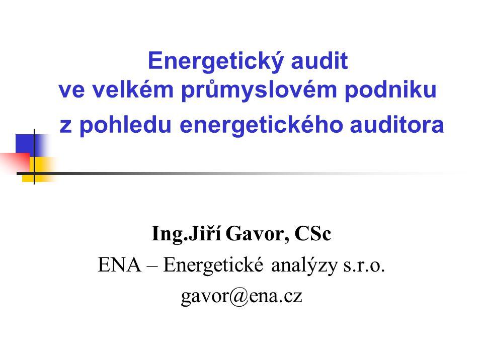 Ing.Jiří Gavor, CSc ENA – Energetické analýzy s.r.o. gavor@ena.cz