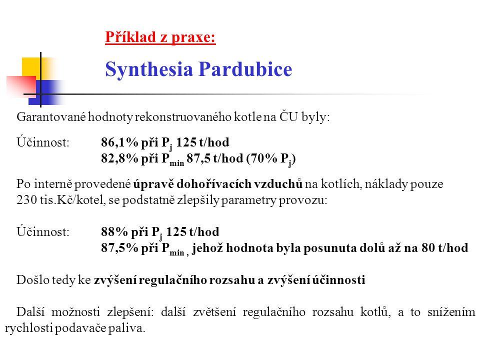 Synthesia Pardubice Příklad z praxe: