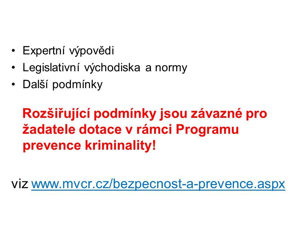viz www.mvcr.cz/bezpecnost-a-prevence.aspx