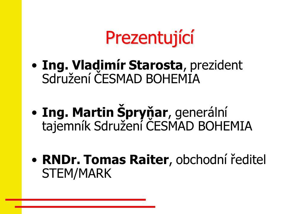 Prezentující Ing. Vladimír Starosta, prezident Sdružení ČESMAD BOHEMIA