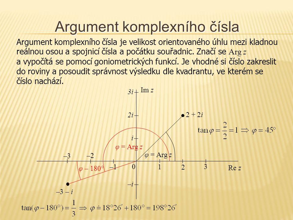 Argument komplexního čísla