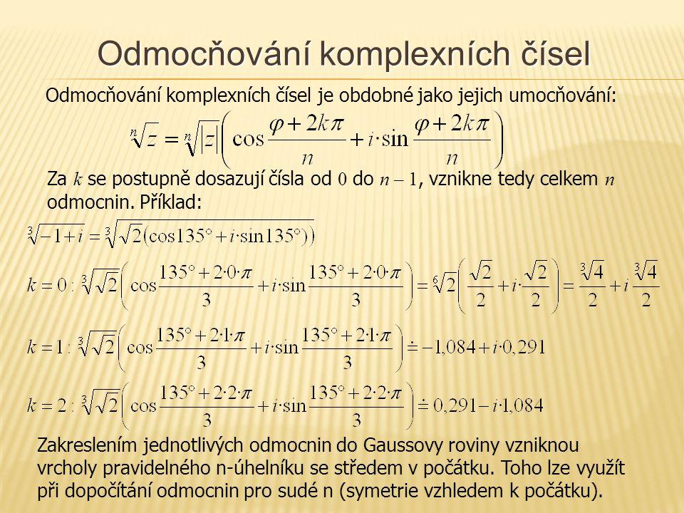 Odmocňování komplexních čísel