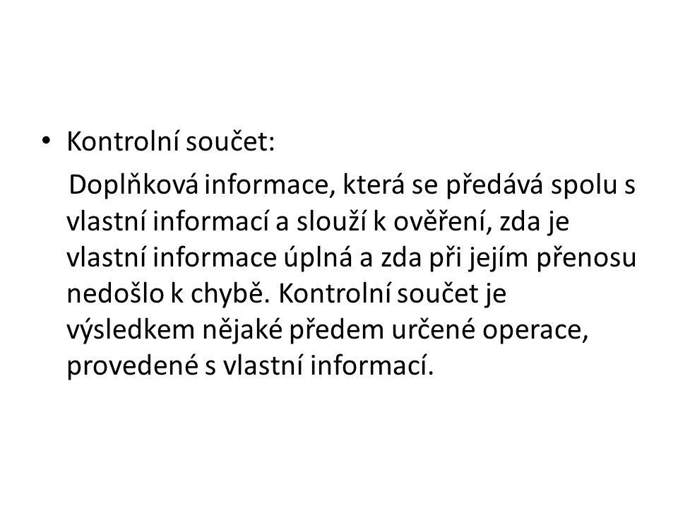 Kontrolní součet: