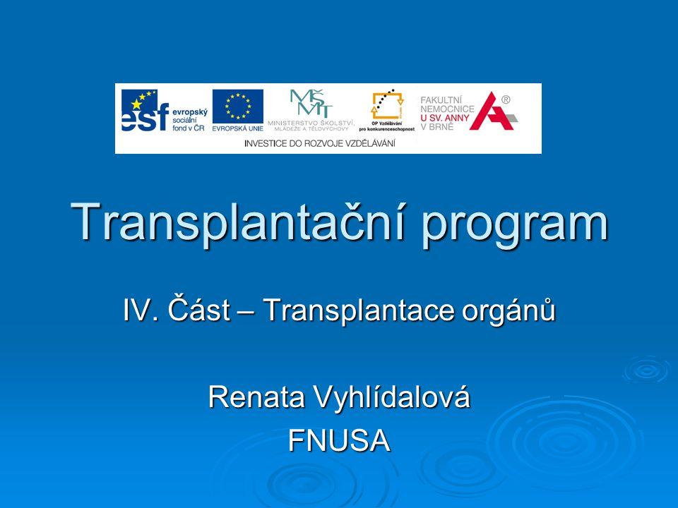 Transplantační program