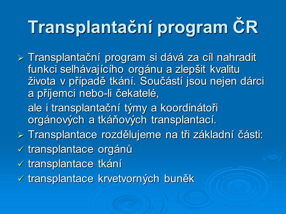 Transplantační program ČR