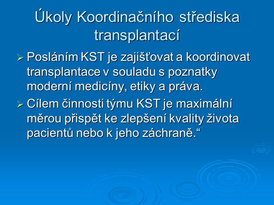 Úkoly Koordinačního střediska transplantací