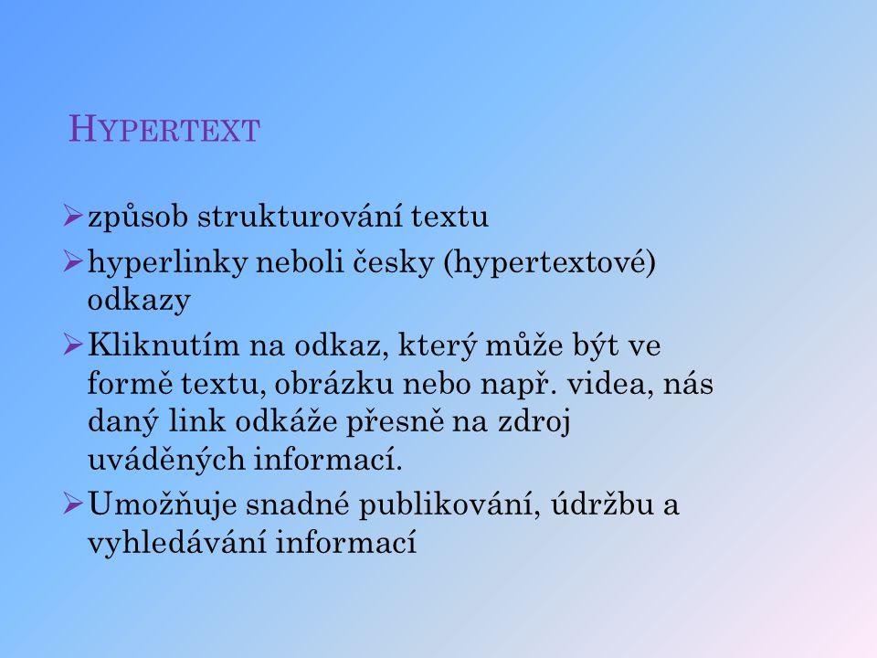 Hypertext způsob strukturování textu