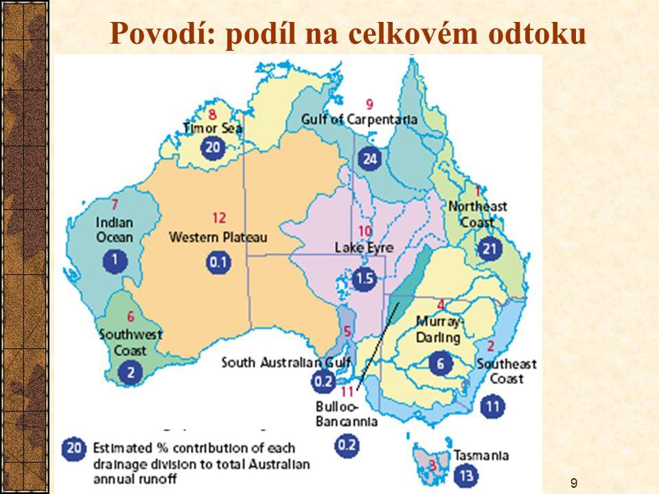 Povodí: podíl na celkovém odtoku