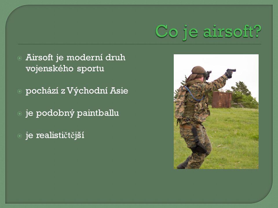 Co je airsoft Airsoft je moderní druh vojenského sportu