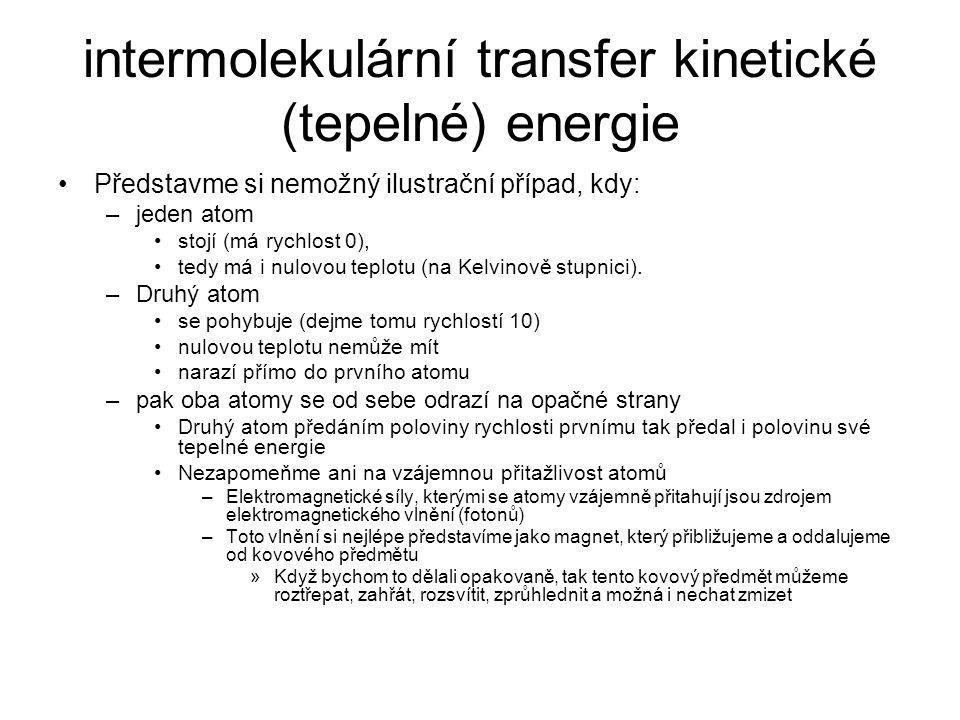 intermolekulární transfer kinetické (tepelné) energie