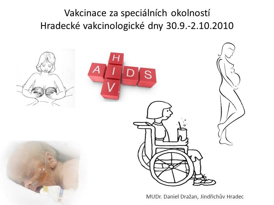 Vakcinace za speciálních okolností Hradecké vakcinologické dny 30. 9