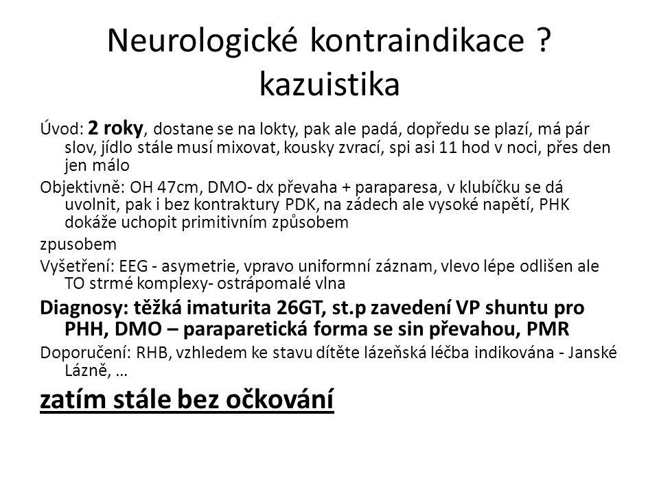Neurologické kontraindikace kazuistika