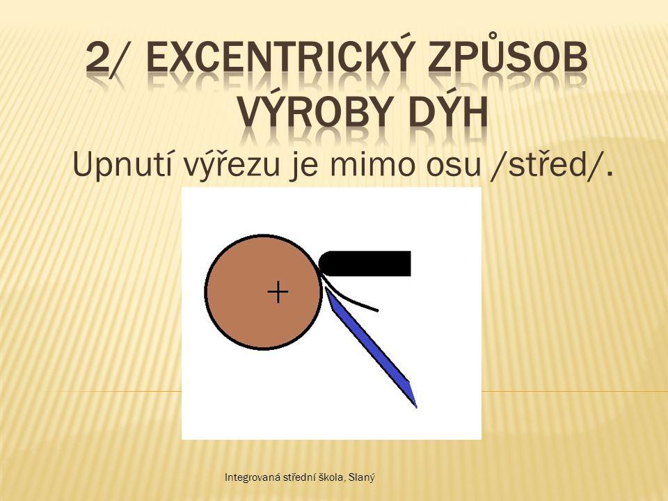 2/ Excentrický způsob výroby dýh