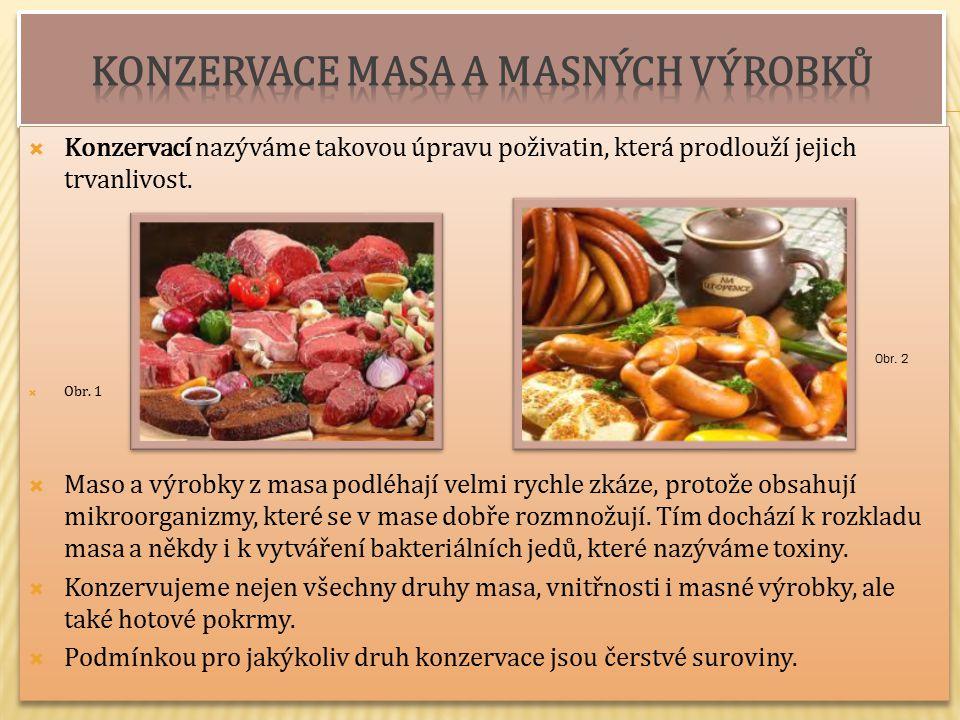 Konzervace masa a masných výrobků
