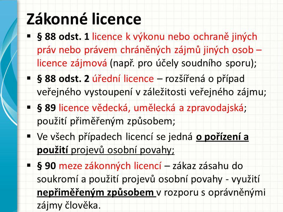 Zákonné licence