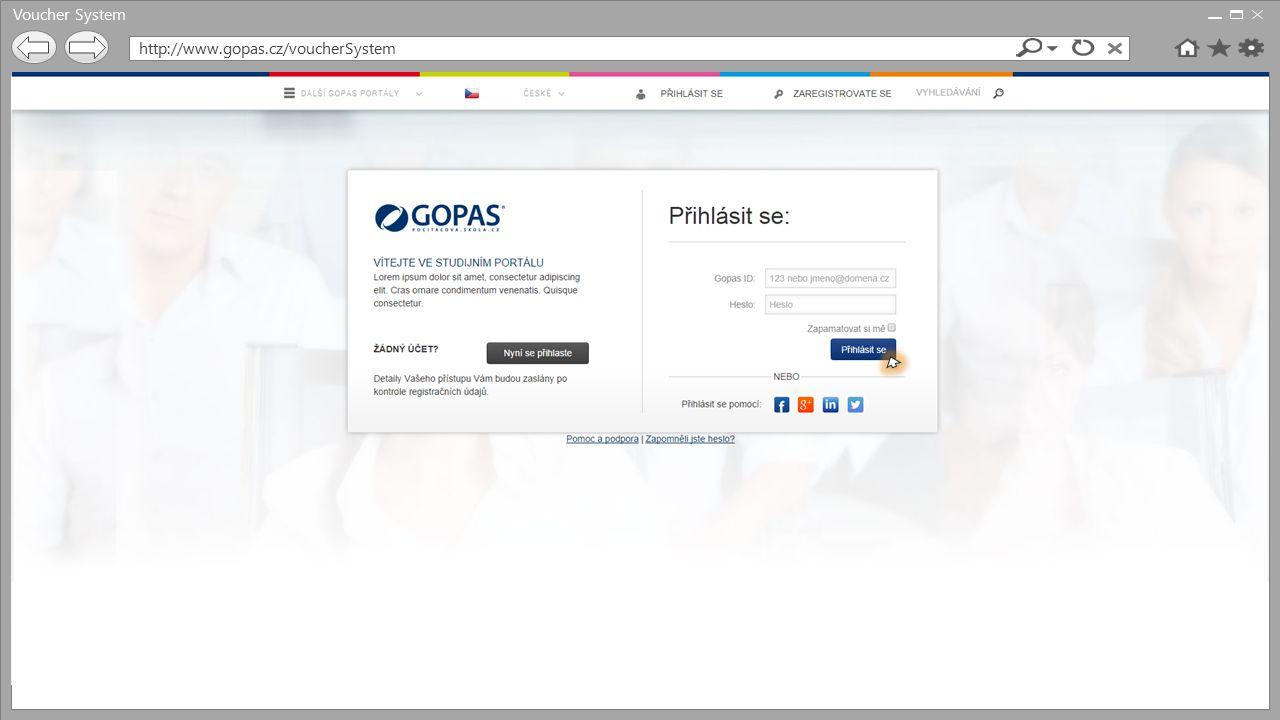 Voucher System http://www.gopas.cz/voucherSystem