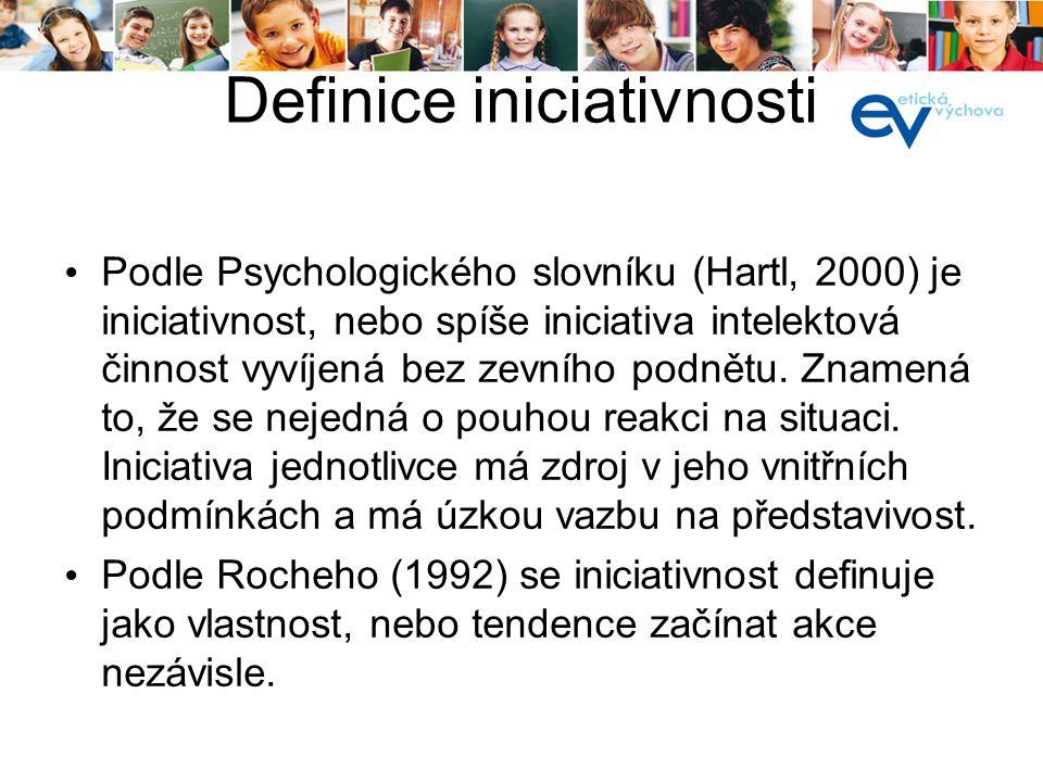 Definice iniciativnosti
