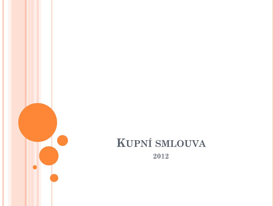 Kupní smlouva 2012