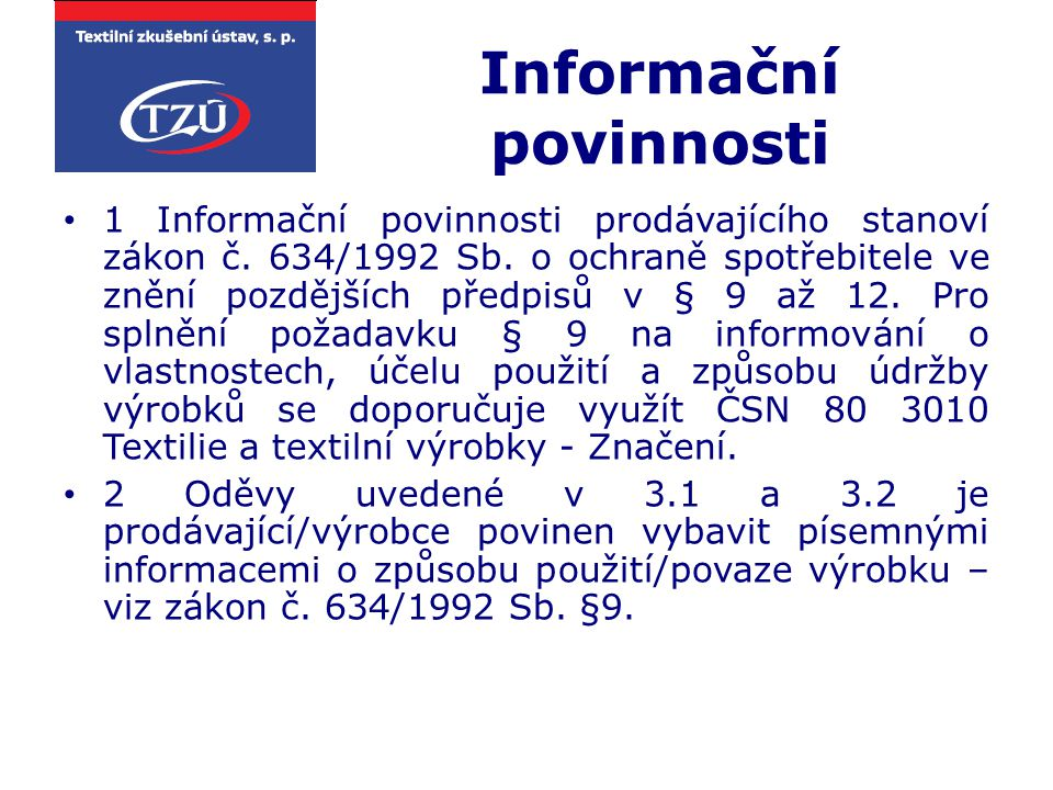 Informační povinnosti