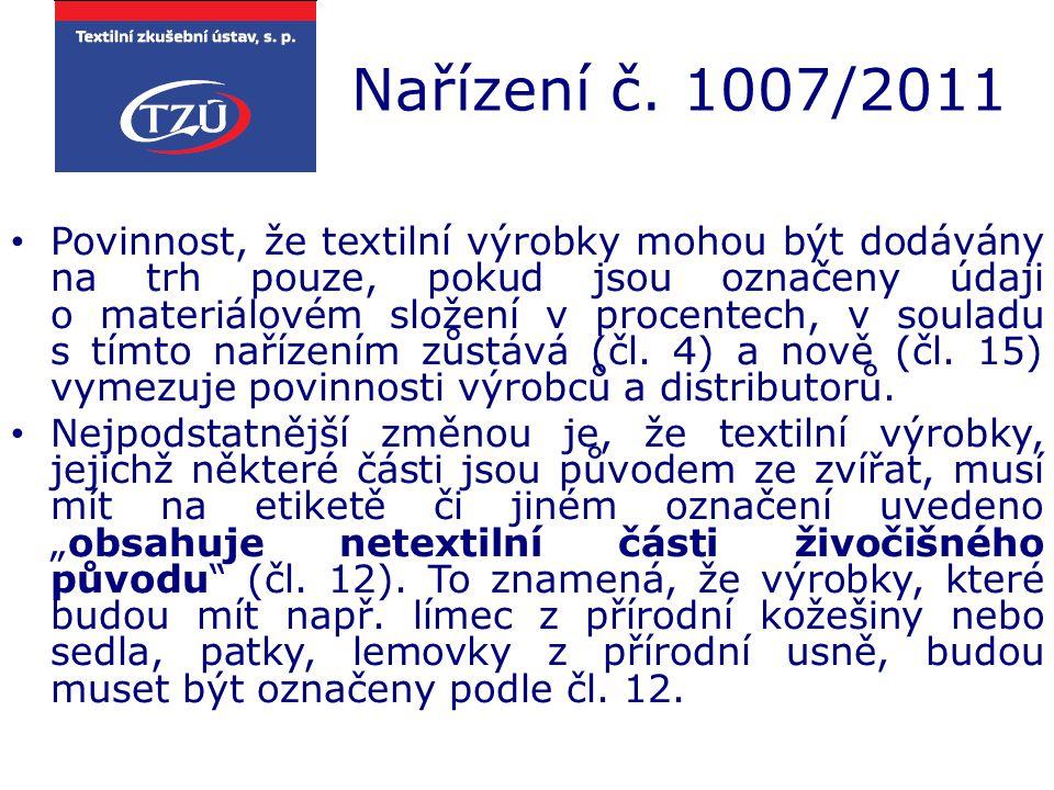 Nařízení č. 1007/2011