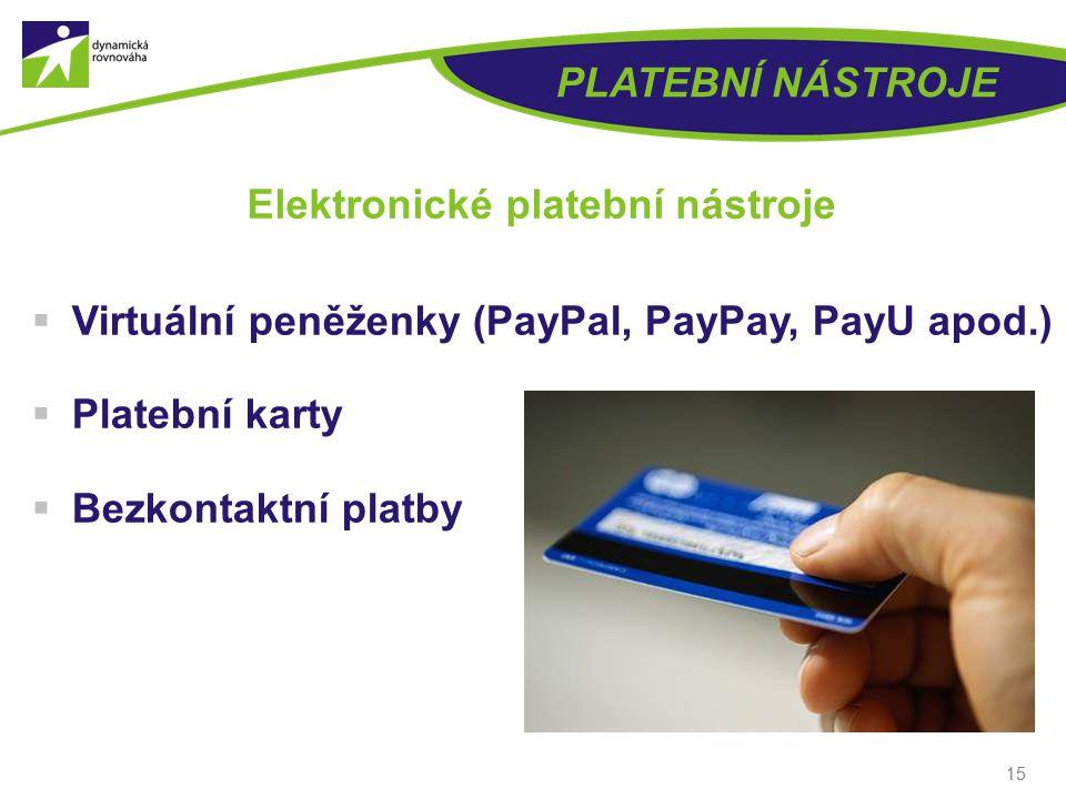 Elektronické platební nástroje