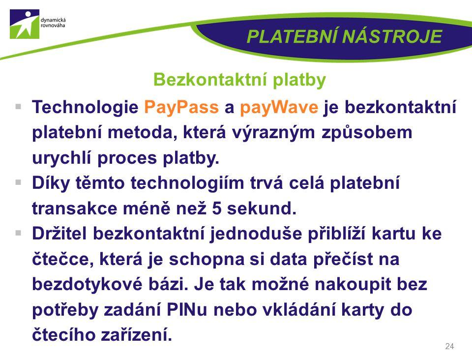 PLATEBNÍ NÁSTROJE Bezkontaktní platby. Technologie PayPass a payWave je bezkontaktní platební metoda, která výrazným způsobem urychlí proces platby.