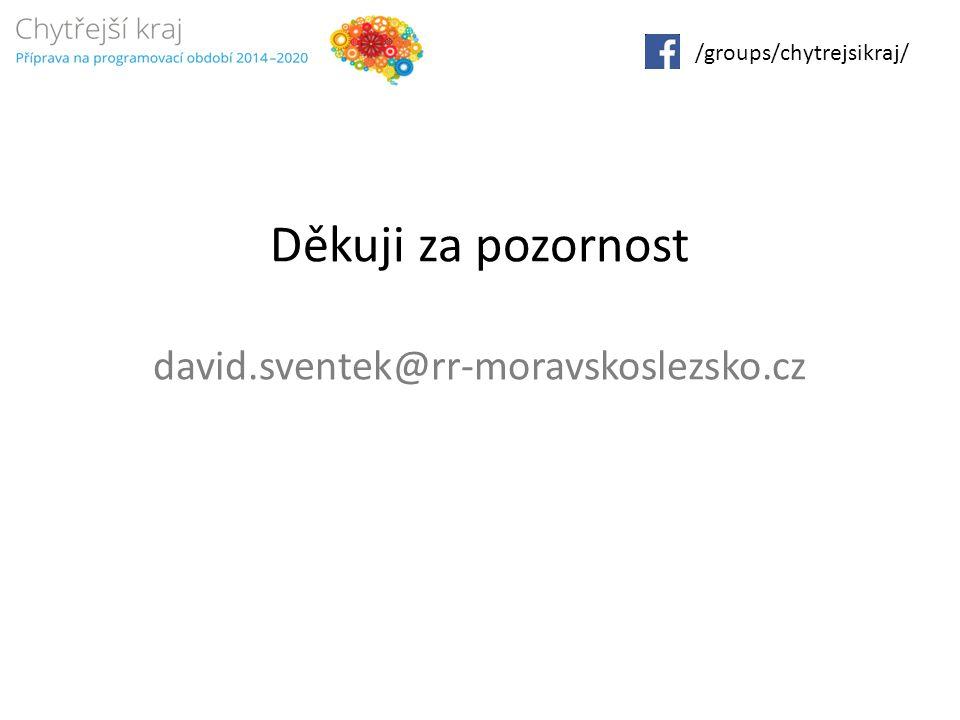 Děkuji za pozornost david.sventek@rr-moravskoslezsko.cz