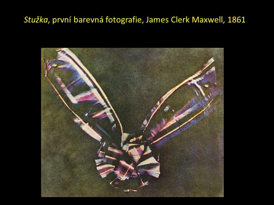 Stužka, první barevná fotografie, James Clerk Maxwell, 1861