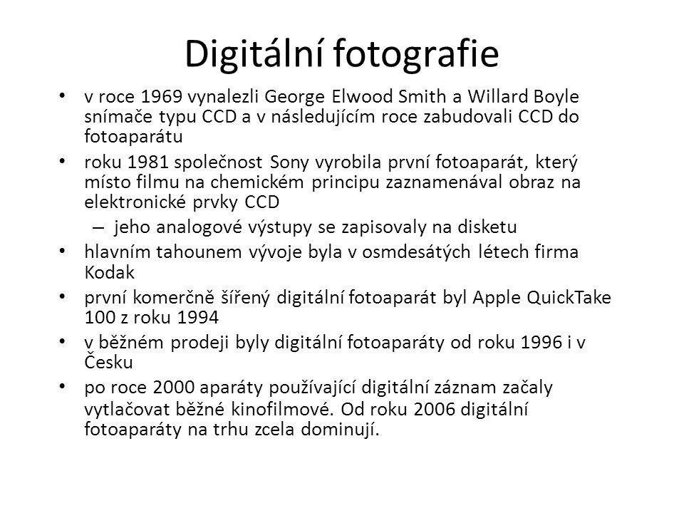 Digitální fotografie v roce 1969 vynalezli George Elwood Smith a Willard Boyle snímače typu CCD a v následujícím roce zabudovali CCD do fotoaparátu.