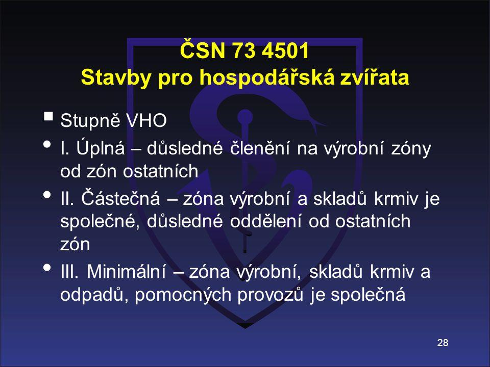 ČSN 73 4501 Stavby pro hospodářská zvířata