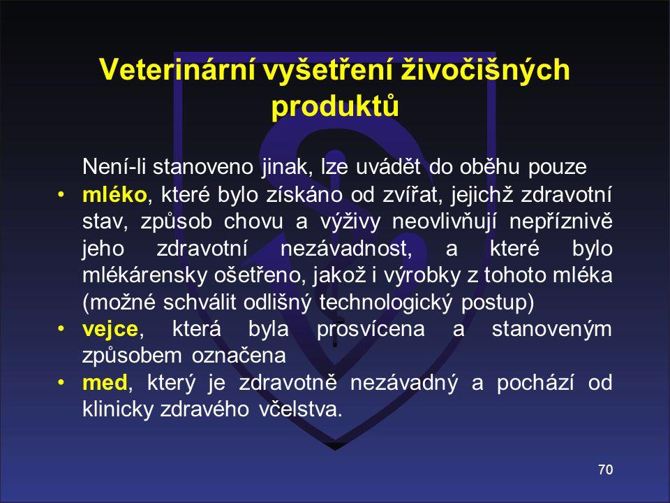 Veterinární vyšetření živočišných produktů