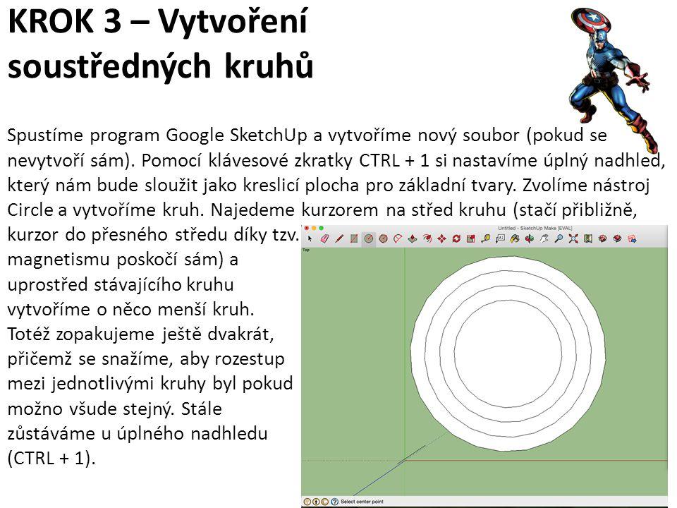 KROK 3 – Vytvoření soustředných kruhů